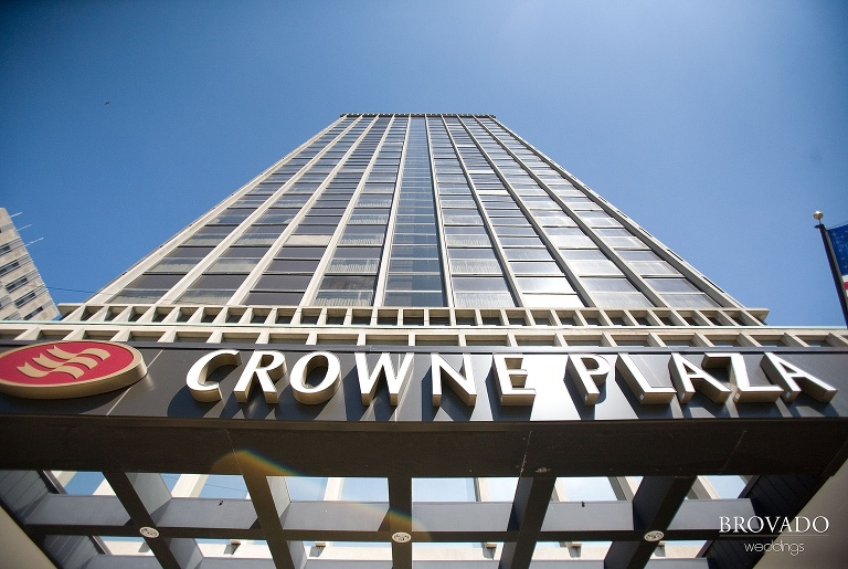 Crowne Plaza hotel sign