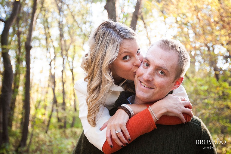 playful fall engagement
