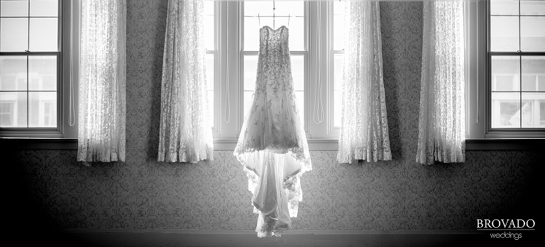 Wedding photography at the St. James Hotel in Red Wing Minnesota dress