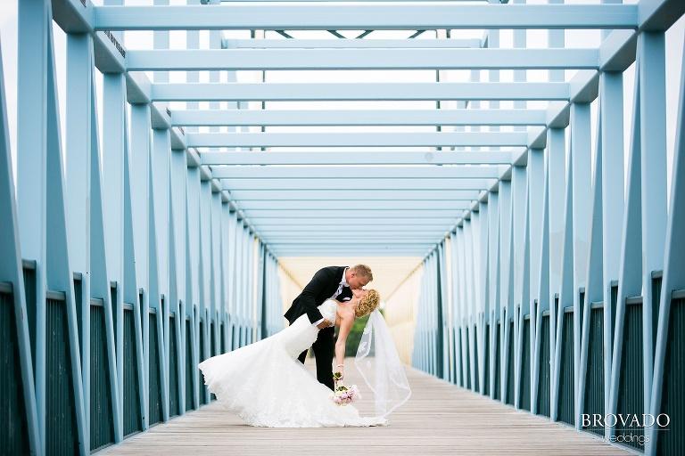 Semple Mansion MN Wedding Photography loring park sculpture garden bridge