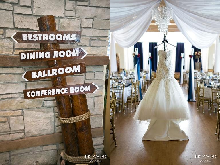 Nautical Wedding Theme  Photography at Lakeside in Glenwood MN wedding dress