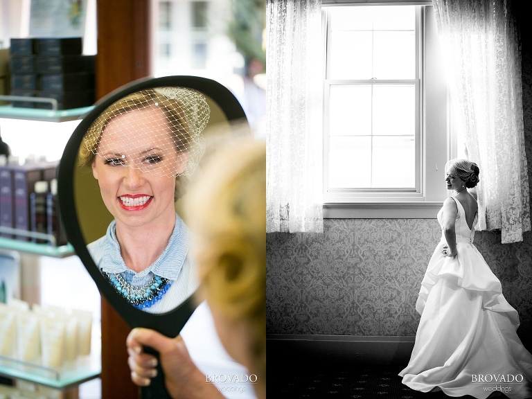 Winter Wedding Photography in Red Wing at the St James Hotel
