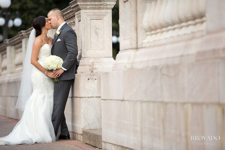 Lavendar accented wedding at the landmark center and rice park in st. paul minnesota