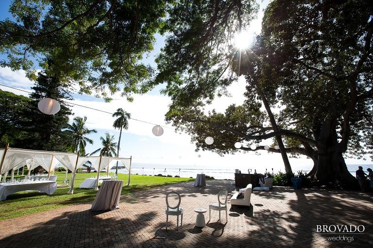 Dreamy Hawaii wedding shot on the shores of Maui by Preston Palmer from Brovado Weddings