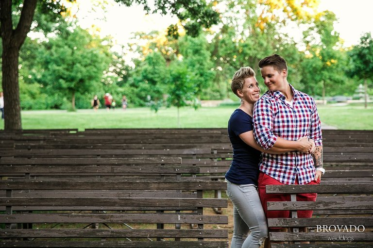 Minnehaha Park engagement