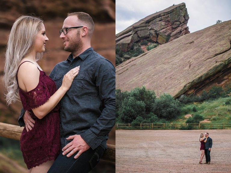 Rust themed engagement shoot