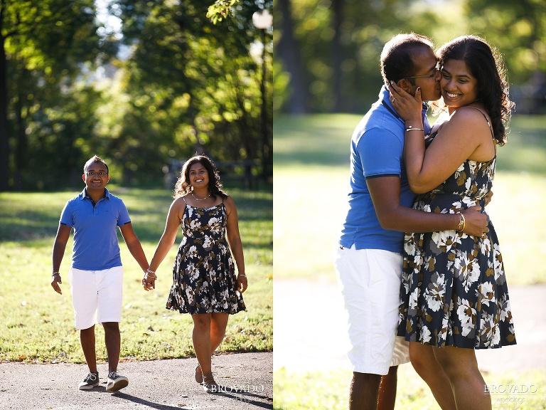 Summertime couple in Minneapolis