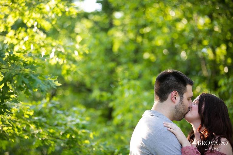 Closeup of Jacquelyn and Brian kissing