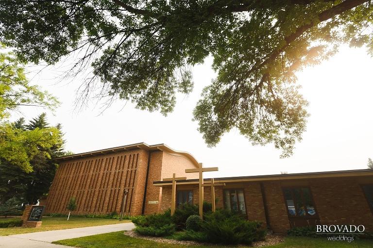 Sunlit church in Grand Forks