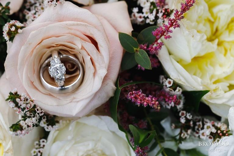 Ring closeup in bouquet