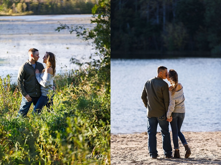 lakeside engagement photographs at lebanon hills